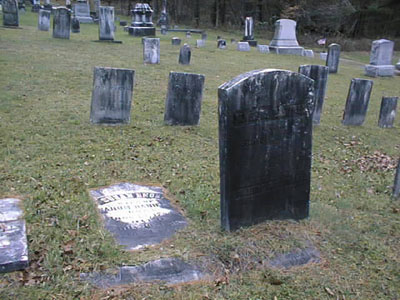 Susan Enos' and Nahum Daniels' Headstones in Poland