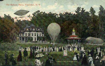 postcard of The Balloon Farm