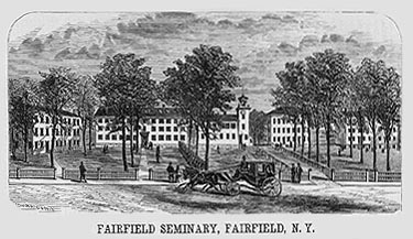 engraving of Fairfield Academy